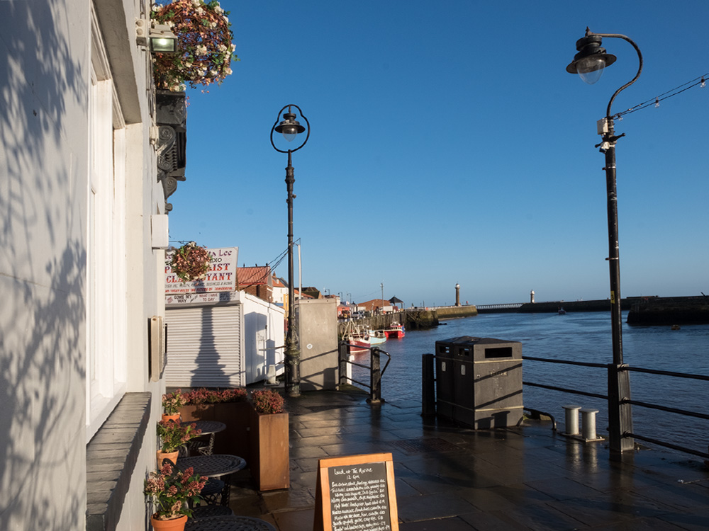 The Marine Hotel - view to the piers